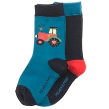 Polarn O. Pyret Baby Boys 2 Pack Tractor Socks