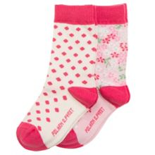 Polarn O. Pyret Baby Girls 2 Pack Flower Socks