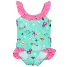 Polarn O. Pyret Baby Girls Underwater Print Swimsuit