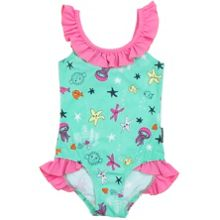 Polarn O. Pyret Girls Underwater Print Swimsuit