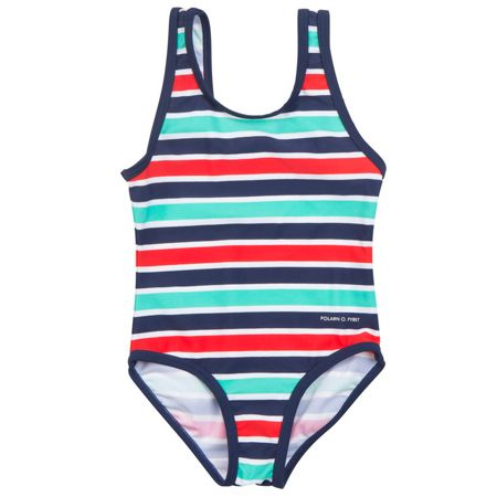 Polarn O. Pyret Baby Girls Striped Swimsuit
