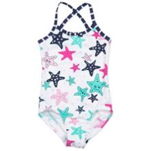 Polarn O. Pyret Girls Starfish Swimsuit