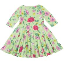 Polarn O. Pyret Girls Bold Floral Dress