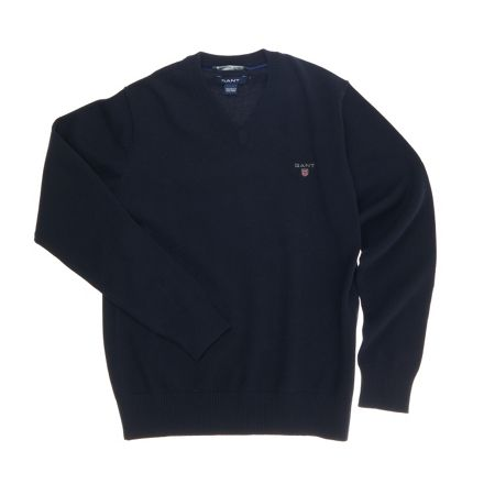 Gant Boys Solid Cotton V-Neck Sweater