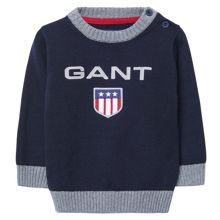Gant Boys Shield Cotton Crewneck
