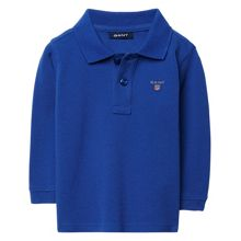 Boys Solid Long-Sleeved Pique