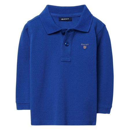Gant Boys Solid Long-Sleeved Pique