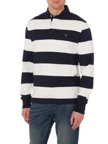 Barstripe Pique Rugby Top