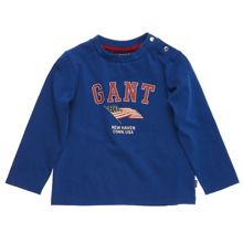 Gant Boys Retro Flag Print T-Shirt