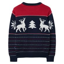 Boys Cotton Reindeer Crewneck