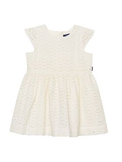 Baby girls sc. broderie anglais dress