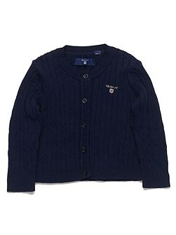 Baby girls sc. cable cardigan