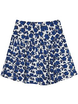 Girls sc. blue flower skirt
