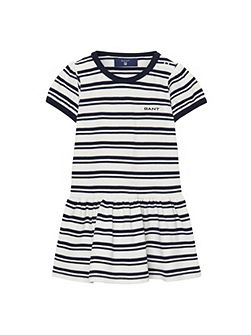 Baby girls sc. striped pique dress