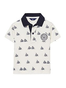 Baby boys sc. ss rugger allover print