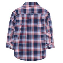 Gant Boys Dobby Plaid Shirt