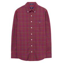 Gant Boys Tech Prep Tartan Plaid Shirt