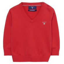 Gant Boys Cotton V-Neck Jumper