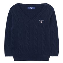 Gant Boys Lambswool Cable Jumper