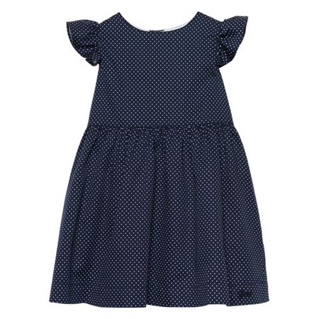 Gant Girls Cotton Dotted Dress