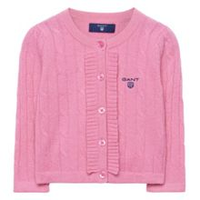 Gant Girls Lambswool Cable Frill Cardigan