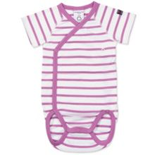 Polarn O. Pyret Babies Striped Short Sleeved Bodysuit