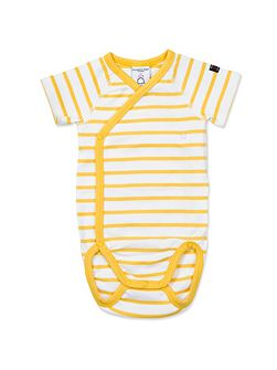 Baby Striped Short Sleeved Bodysuit