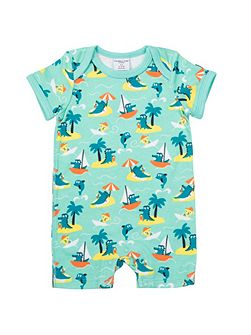 Babies Crododile and Dolphin Romper