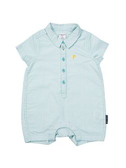 Baby Boys Striped Romper