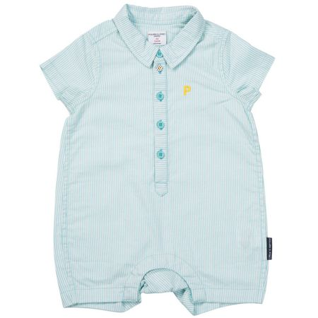 Polarn O. Pyret Baby Boys Striped Romper
