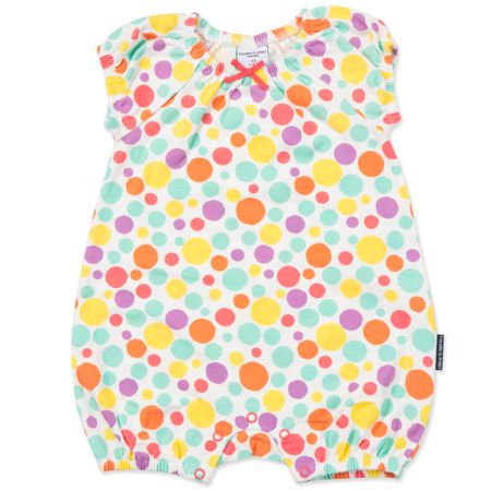Polarn O. Pyret Baby Girls Polka Dot Playsuit