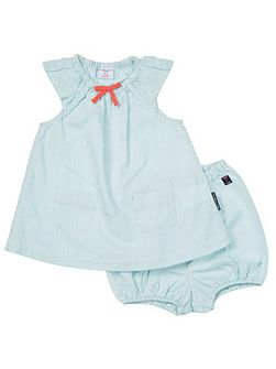 Baby Girls Dress and Shorts Set