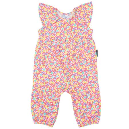 Polarn O. Pyret Baby Girls Floral Playsuit