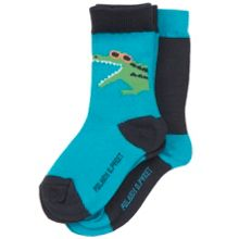 Polarn O. Pyret Baby Boys 2 Pack Crocodile Socks
