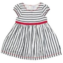 Polarn O. Pyret Baby Girls Nautical Striped Dress