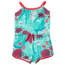 Polarn O. Pyret Girls Floral Playsuit