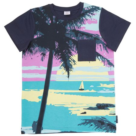 Polarn O. Pyret Kids Beach Print T-Shirt