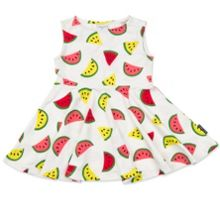 Polarn O. Pyret Baby Girls Melon Print Dress