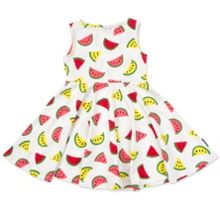 Polarn O. Pyret Girls Melon Print Dress