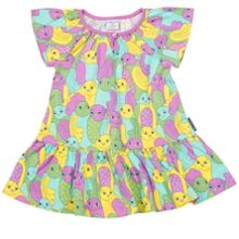Polarn O. Pyret Baby Girls Bird Print Dress