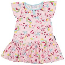 Polarn O. Pyret Girls Bird Print Dress