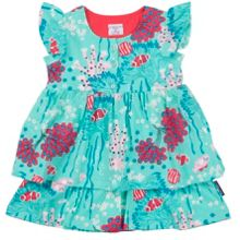 Polarn O. Pyret Baby Girls Ruffle Dress