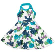 Polarn O. Pyret Girls Floral Halter Neck Dress