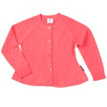 Polarn O. Pyret Baby Girls Cotton Cardigan