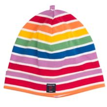 Polarn O. Pyret Kids Rainbow Stripe Hat