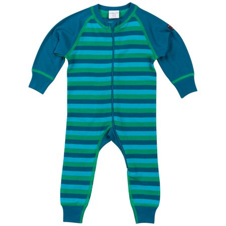 Polarn O. Pyret Babies Striped Thermal all-in-one