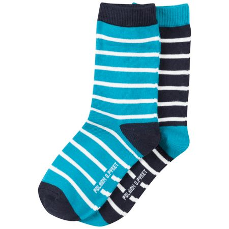 Polarn O. Pyret Kids 2 Pack Striped Socks