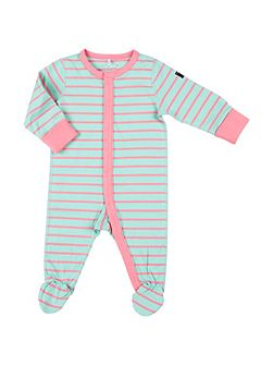 Babies Striped Sleepsuit