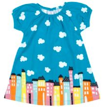 Polarn O. Pyret Baby Girls Cityscape Dress