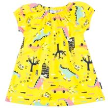 Polarn O. Pyret Baby Girls Dinosaur Town Dress